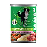 IAMS Proactive Health Dog Food, Ground Savory Dinner with Lamb and Rice, 13.2-Ounce Cans (Pack of 12), My Pet Supplies