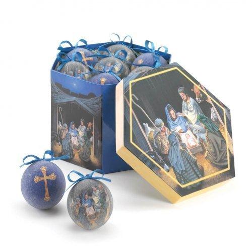 (Home Locomotion Nativity Ornament Set)