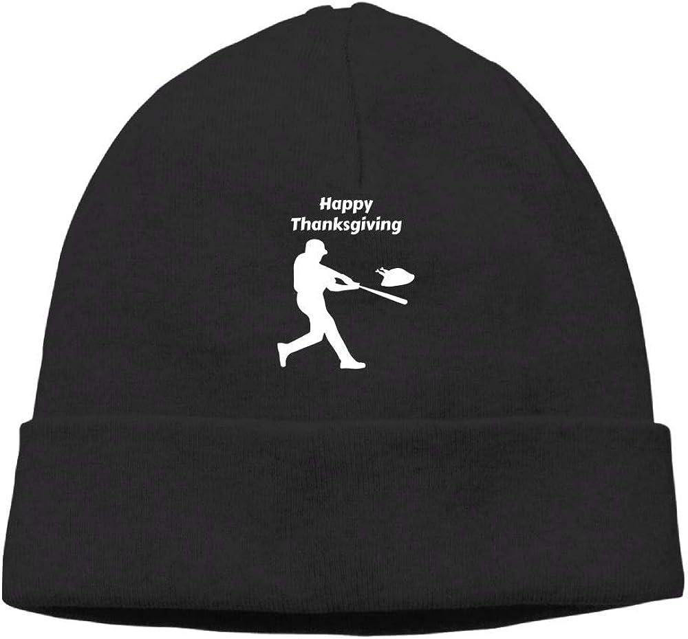 Oopp Jfhg Happy Thanksgiving Baseball Beanie Knit Hat Skull Caps Mens