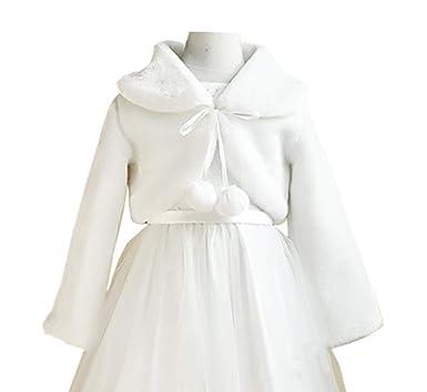 1c85984285ba Amazon.com  HX Little Girl s Winter Long Sleeve Faux Fur Bolero ...