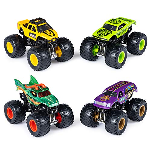 Monster Jam Official Die-Cast 1:64 Scale Double 2 Pack (Bro Dozer, Gas Monkey, Dragon, Jester)