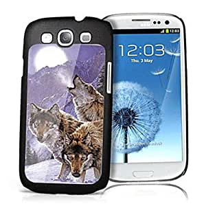 Wolf Pattern 3D Effect Hard Case for Samsung Galaxy SIII i9300