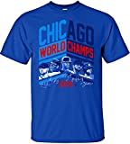 MLB Chicago Cubs 2016 World Series Champions Team Angle Design T-Shirt, X-Large, Royal