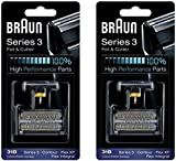 31B BRAUN 5000/6000 Series Contour Flex XP Integral Shaver Foil & Cutter Head Replacement Combi Pack Black, 2 Count