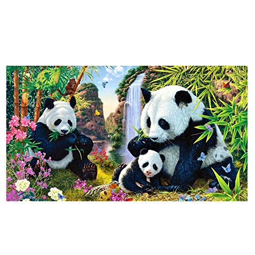 Mome Diamond Embroider 5D Diamond Painting by Number Kit DIY Crystal Rhinestone Cross Stitch Embroidery Arts Craft Picture Supplies for Home Wall Decor,Panda- 30x40cm (A) ()