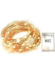 MSC 33 ft 10M 100 LED Battery Powered Fairy Lights