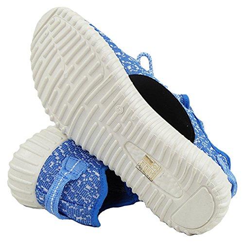 Señoras Corriendo Formadores Para Mujer Ejercicio Gym Nuevo Deportivo Inspirada Bombas De Zapatos Talla 3-8 Azul