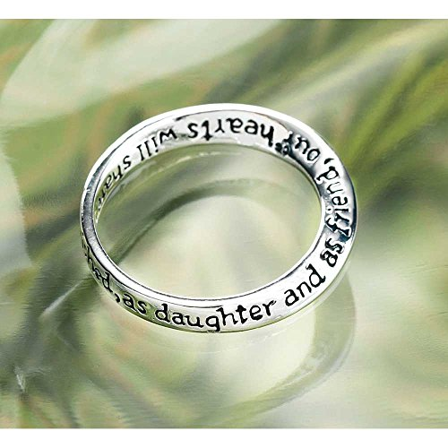Dear Daughter and Friend Womens Silver Plated Twist Ring Size 7 - Silver Plated Twist