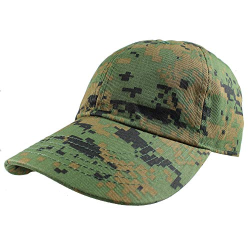 Gelante Baseball Caps Dad Hats 100% Cotton Polo Style Plain Blank Adjustable Size. 1800-3-GrnDig Camo