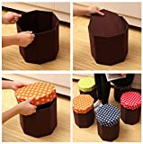 OKOKMALL US--Foldable Storage Foot Stool Children Pouffe Bedroom Home Kids Chair Seat Box