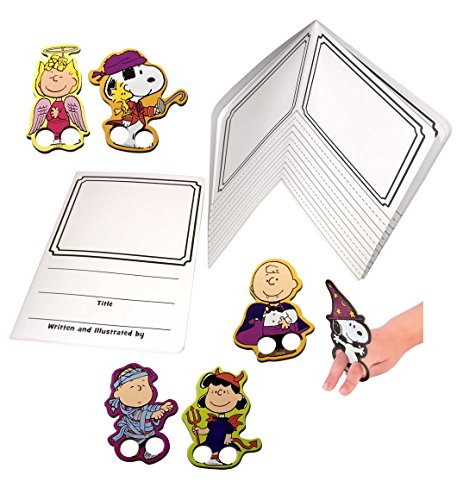 Halloween Kids Activity: Write, Draw and Play with Peanuts Character Finger Puppets (Halloween Ideas For Esl Students)