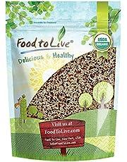 Organic Tri-Color Quinoa, 3 Pounds — Non-GMO, Raw, Whole Grain, Non-Irradiated, Kosher, Vegan, Sproutable, Bulk, Three-Color or 3-Color Blend of White, Black and Red Quinoa, Sirtfood