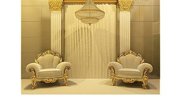 LFEEY 5 x 3 Ft Barroco Blanco sillones Fotografía Fondo ...