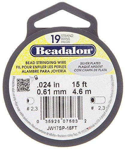 Beadalon Silver Plated Wire-19 Strand, .024, 15ft - BDC-762.24 by Beadalon (Image #2)