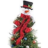 Christmas Snowman, Family Tall Decoration Stuff, Holiday Toys Décor & Decorations Gift , Christmas Tree,Xmas/Holiday/Winter Party Supplies Standing Snowman Xmas (GREEN SCARF, LARGE 52.36''45.27'')