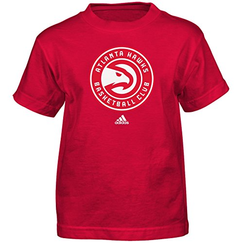 Outerstuff NBA Atlanta Hawks Boys Full Primary Logo Short Sleeve Tee, Medium (5-6), Red