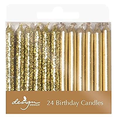 Best Cheap Deal for Design Design Metallic Birthday Candles, Gold by Design Design - Free 2 Day Shipping Available