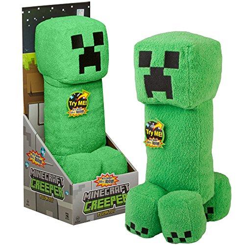 """JINX Minecraft Creeper Plush Stuffed Toy (2 Pack, Green, 14"""" Tall) with """"SSSsss Boom!"""" sound -  Mojang"""