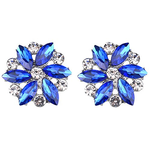 Rantanto Crystal Metal Shoes Clips Accessory Shoes Decoration Charms Pack (SDA0021 Royal Blue) by Rantanto