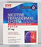 CVS Nicotine Transdermal System Stop Smoking Aid 21 mg, 7 Patches Step 1.
