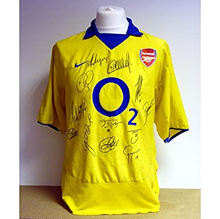 huge selection of fc849 7f2f1 Arsenal - Invincibles 2003/04 Fully signed shirt: Amazon.co ...