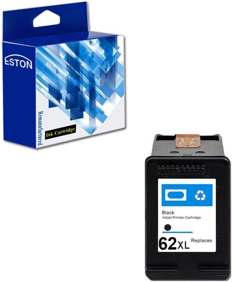 Eston 1 Pack # 62 XL negro de tinta para HP Envy 5640 Envy 5642 Envy 5643 Envy 5644: Amazon.es: Oficina y papelería