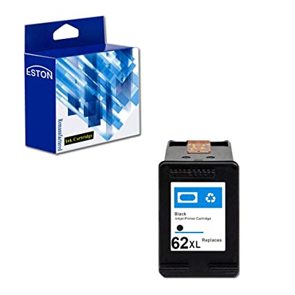 Eston 1 Pack # 62 XL negro de tinta para HP Envy 5640 Envy 5642 ...