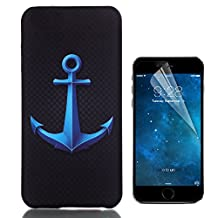 iPhone 6 Plus 6S Plus Case Hard, Bonice [Relief Series] [PC Hard Protection] High Impact Ultra Slim Thin Pattern Protective Case for iPhone 6/6S Plus 5.5 + HD Screen Protector - Anchor