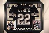 Emmitt Smith Autographed Signed Custom Framed Dallas Cowboys Jersey GTSM Emmitt Personal COA & Hologram