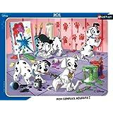 Nathan - 86091 - Puzzle Enfant avec Cadre - 101 Dalmatiens - Séance de peinture - 35 Pièces
