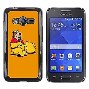 TopCaseStore / la caja del caucho duro de la cubierta de protección de la piel - Teddy Bear Drawing Cartoon Toy Animation - Samsung Galaxy Ace 4 G313 SM-G313F