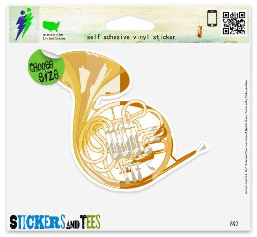 french-horn-musical-instrument-band-vinyl-car-bumper-window-sticker-2-x-2