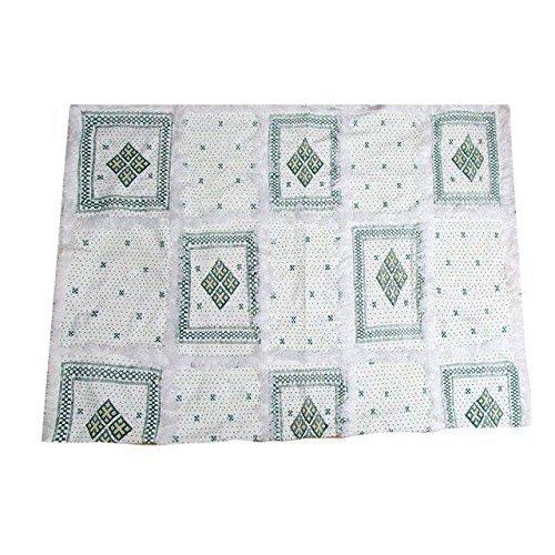 Atlas Berber Beaded Green Blanket