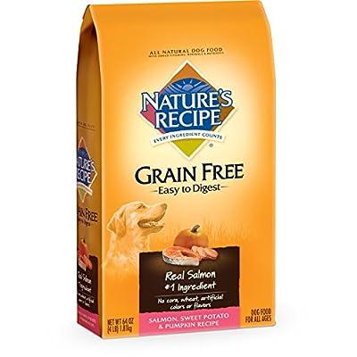 Nature's Recipe Grain Free Easy to Digest Salmon, Sweet Potato & Pumpkin Recipe Dry Dog Food, 4-Pound