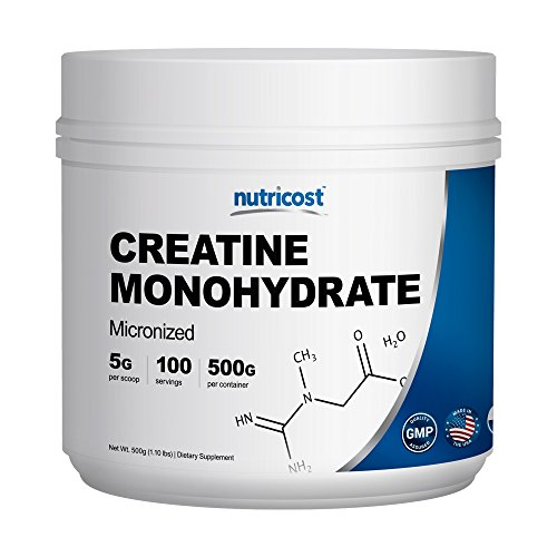 Nutricost Creatine Monohydrate 100 Servings, 5000mg Per Serve Pure Creatine Monohydrate