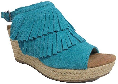 Minnetonka Womens Ashley Sandal Turquoise Size 5