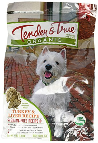 - Tender & True 854006 Organic Turkey & Liver Recipe 4 lb bag dry dog food, One Size