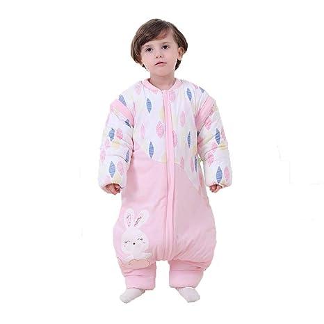 CWLLWC Saco de Dormir para bebé,Recién Nacido Anti-Kicking Hembra bebé algodón Pierna