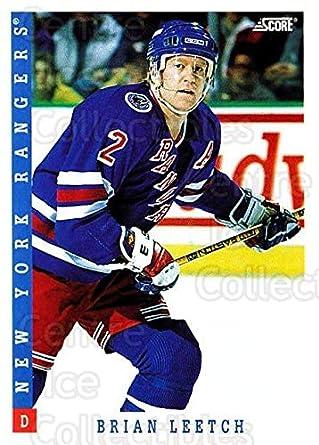 Amazon.com  (CI) Brian Leetch Hockey Card 1993-94 Score USA (base ... 0487968de