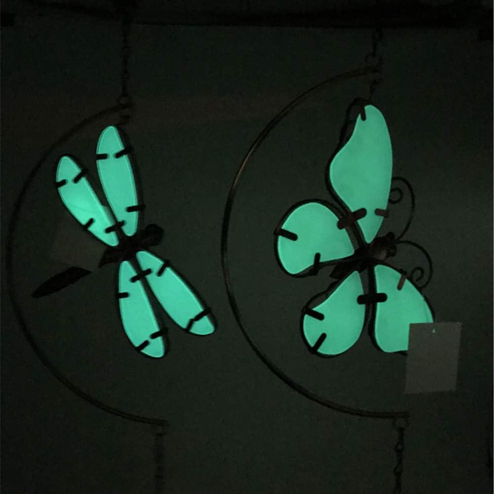 Viewenormi Campanelle Luminose a Forma di Libellula//Farfalla in Metallo da Appendere per casa Balcone Patio Decorazione Interna Farfalla Luminosa Giardino