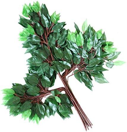 人工ユーカリの葉(12個)、人工植物、装飾用の偽の葉、リビングルーム、店舗、ショッピングモール用,C