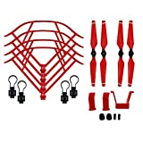 BTG Part Kit for DJI Mavic Pro RC Drone: Propellers + Quick Release Propeller Guards + Landing Gear (Red)