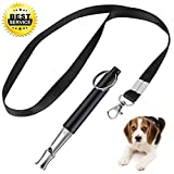 XQFI Dog Whistle to Stop Barking, Adjustable Pitch Ultrasonic Training Tool Silent Bark Control for Dogs- with Free Premium Quality Lanyard Strap(1pack) (Pink-1)