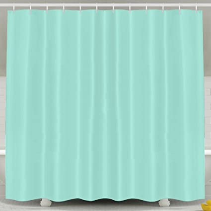 Amazon BESTSC Bath Curtain Mint Green Shower Curtains