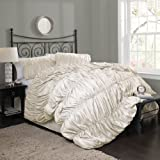 Lush Decor Venetian 4-Piece Comforter Set, Queen, Ivory