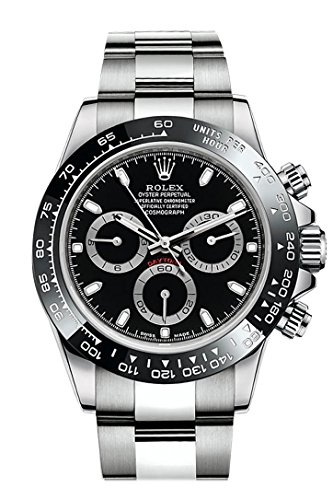 (ROLEX Cosmograph Daytona Black Dial Stainless Steel Oyster Men's Watch 116500)