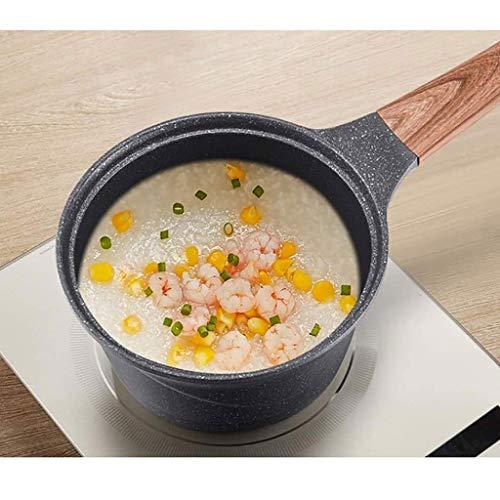 XJJZS Non-Stick Milk Pan, Cast Iron Cooking Soup Pot Milk Heating Stockpot Nonstick Pan Kitchen Stewpan Saucepan for Gas Induction Cooker