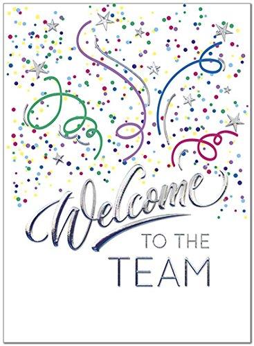 25 Employee Welcome Cards - Fun Confetti Design - 26 White Envelopes - Eco Friendly
