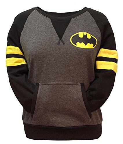 Batman+Retro+Shirts Products : DC Comics Batman Juniors Varsity Pullover Top