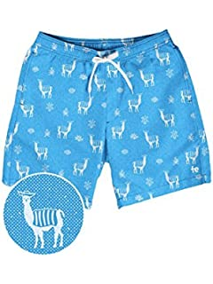 3122a0490f Tipsy Elves Men's Short Swim Trunks - Bright Neon Board Shorts for Vacation